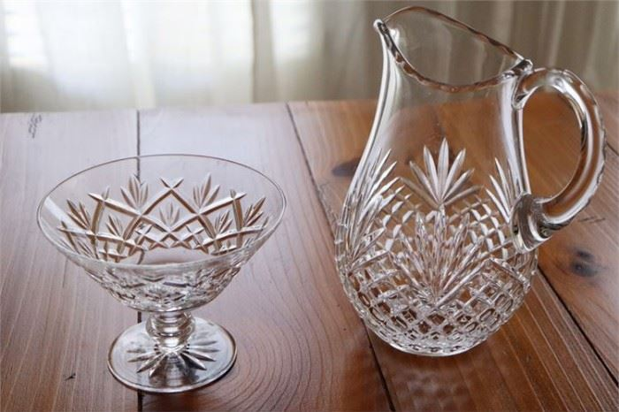 4. Two 2 Crystal Objects Including WATERFORD Candy Dish