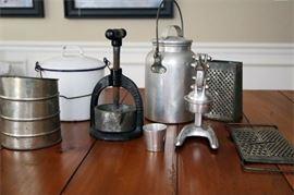 9. Vintage Lot of kitchenware Including Juice Presses