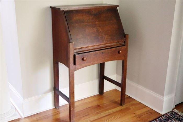 13. Antique Mission Style Secretary Desk