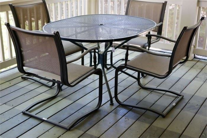 15. MARTHA STEWART LIVING Patio Set W Table and 4 Chairs
