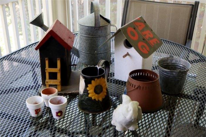 22. Lot of Bird Houses Misc Outdoor Items