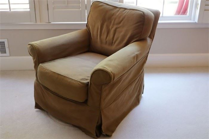 29. Swivel Club Chair with Slipcover