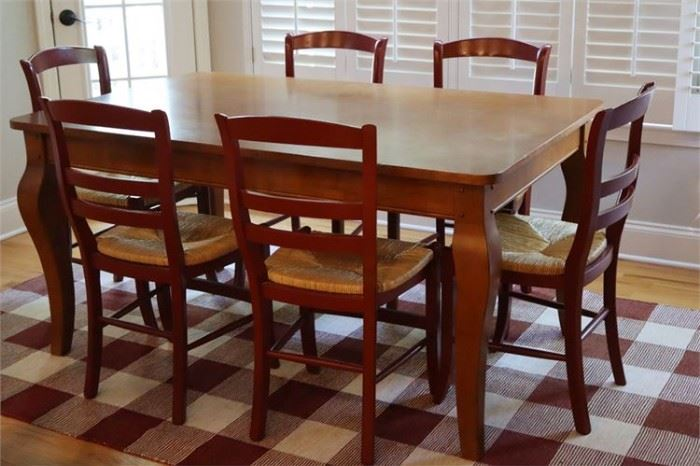 40. French Provincial Style Dining Table Six 6 Chairs