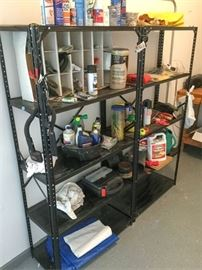 53. Contents of Two Metal Shelves