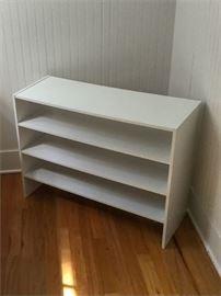 62. Utilitarian Clothes Shelf