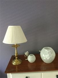 64. Lamp and Two Illuminating Globes