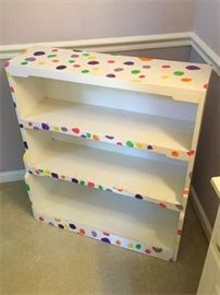 69. Childs Whimsical Decorated Bookcase