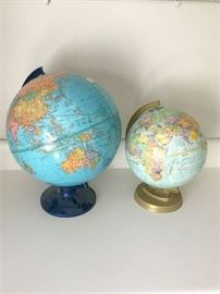 75. Two Terrestial Globes