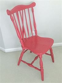 77. Windsor Chair in Red Paint
