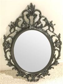 81. Black Finished Florentine Style Wall Mirror