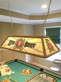83. Light Beer Advertising Pool Table Lamp