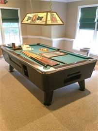 84. Bar Size Quality Coin Operated Pool Table