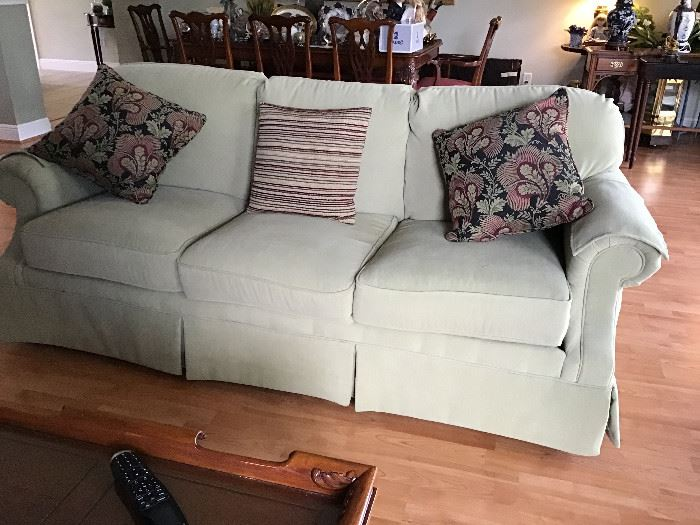 Flexsteel Sofa to match. Both pieces are light Sage Green  ( color in photo's is distorted)