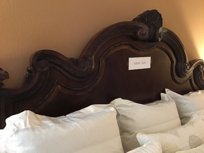 Ornate carving on Headboard and Footboard