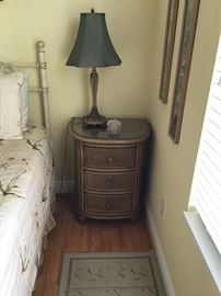 Pair of Rattan Night Stands