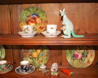 Tea Cups, Decorative Plates and Figurines