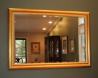 Large Rectangular Gold Framed Mirror