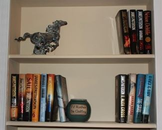 Books, Horse Sculpture and Pot