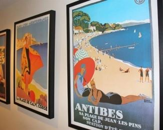 Framed Travel Posters