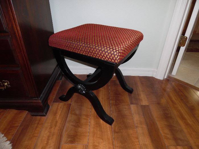 Small stool with wood base