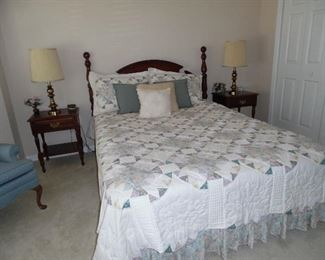 Queen size bedroom set. Headboard, 2 night stands,