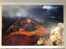 """Retired Grand Canyon Image titled """"Canyon Storm"""" by Elaine Morgan of Sedone, last available 60""""x40"""" sold for $5,300."""