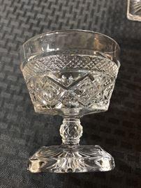 Cut glass stemware
