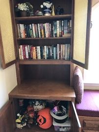 Bookcases and books