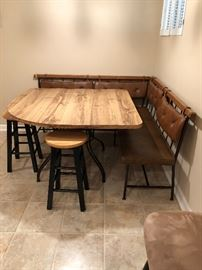 Great table with seating benchs