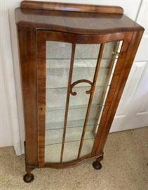 Curved Glass Queen AnneStyle Antique Curio Cabinet, 1880s                    https://ctbids.com/#!/description/share/136651