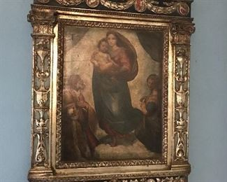 Ornate and antique tabernacle art & frame