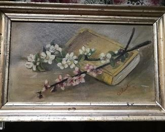 Antique painting ~  oil on canvas