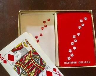 deck of vintage Davidson College playing cards