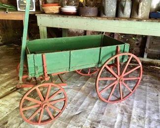 Antique wooden cart