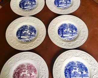 6 Wedgwood plates ~ Davidson College Chambers Building