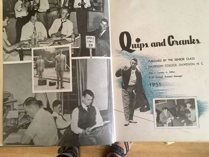Several 1950s & 1960s Davidson College yearbooks