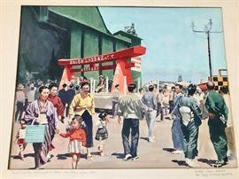 Original Water Color by Ozni Brown - Tachakawa Air Base - Near Tokyo - C. 1957 - Extensive Original Fine Art