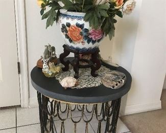 beautiful table with stone top from France