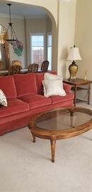 Red Sofa is Ethan Allen