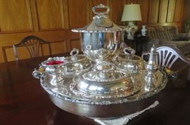 Silver Lazy Susan - Wednesday Server, Dumb Waiter, C1900.