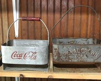 Vintage Coke and Royal Crown bottle cartons