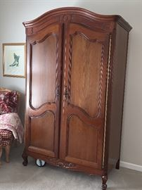 Wonderful carved Armoire