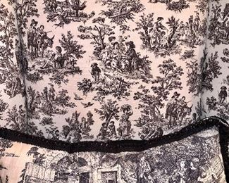 close up of Toile  fabric