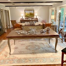French Dining Table with Draw Leaves