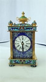 Chinese Cloisonne Carriage clock
