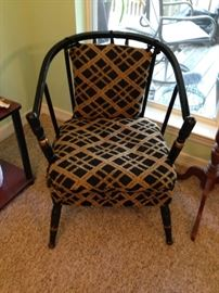 one of two early chairs from old Hattiesburg hotel