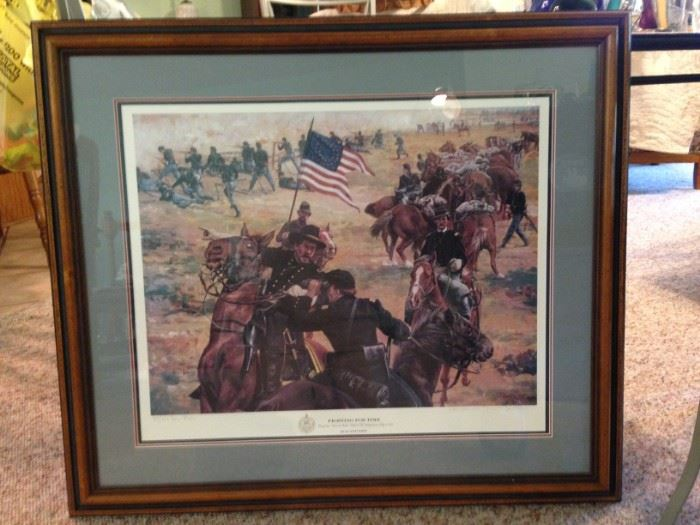 """Limited edition """"Fighting For Time""""  signed Don Stivers"""