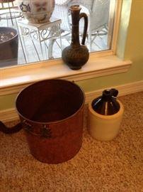 copper clad tub/moonshine jug