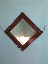 hall tree beveled mirror