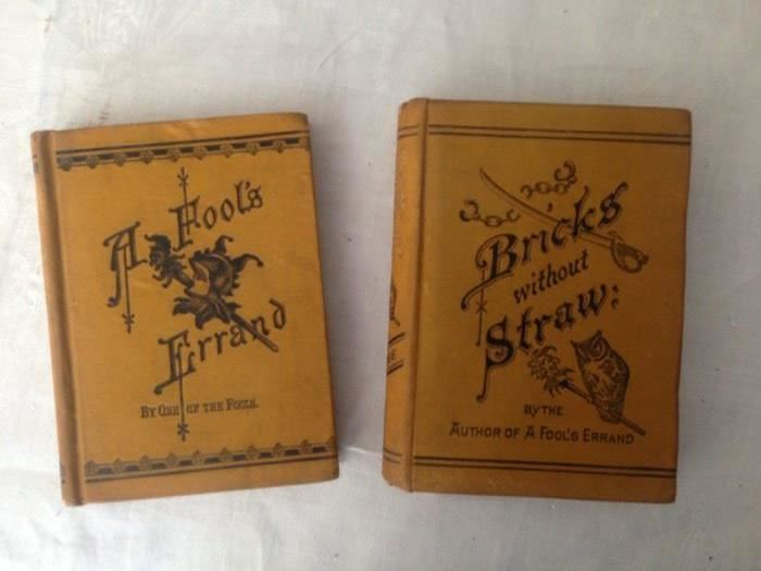 Two first editions Albion Tourgee 1879